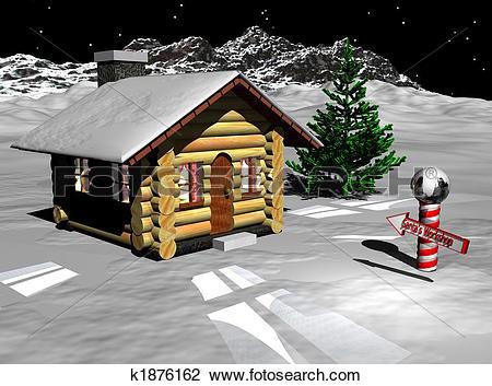Clip Art of Santa Workshop k1876162.