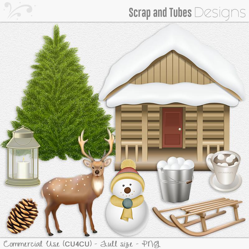 _Winter : Scrap and Tubes Store, Digital Scrapbooking Supplies.