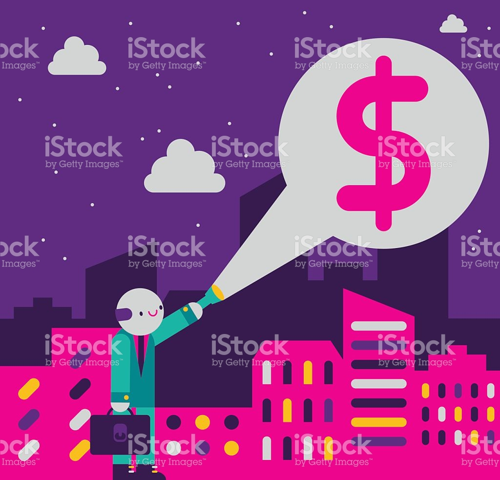 Shed Light On A Business stock vector art 522309006.