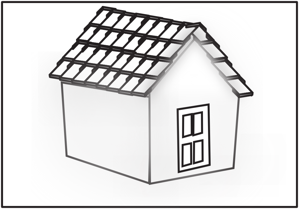 Shed roof clipart #11