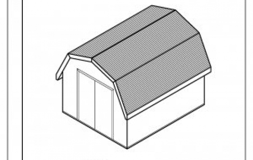 Shed clipart black and white.