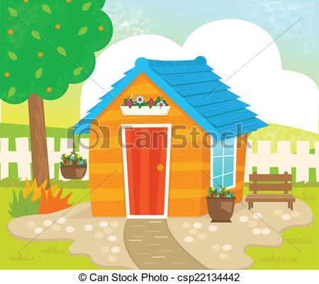 EPS Vector of Garden Shed.