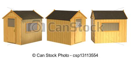 Stock Illustrations of Garden Shed csp13113554.