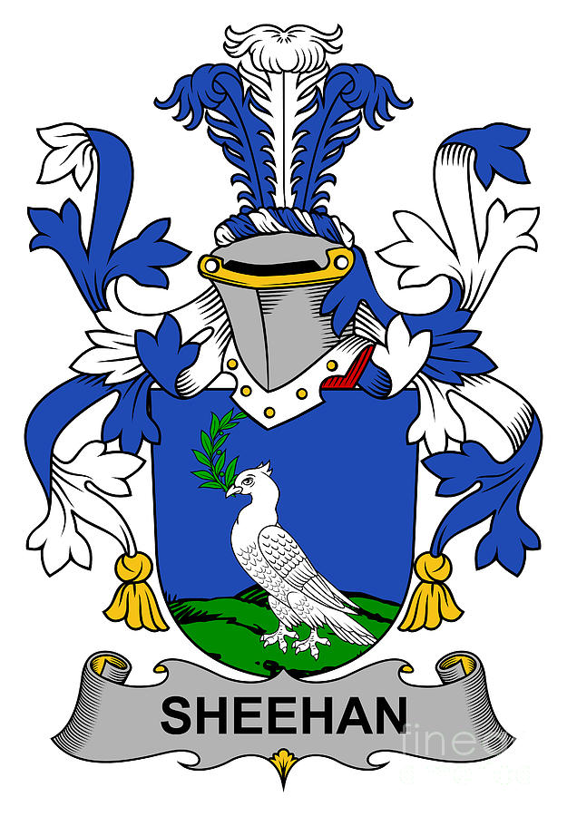 Sheehan Coat Of Arms Irish Digital Art by Heraldry.