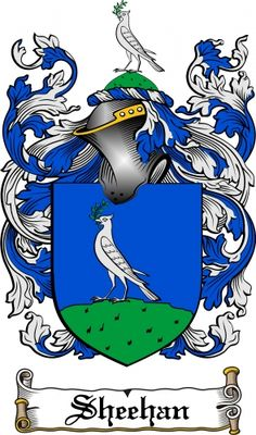 Sheehan Coat of Arms (Family Crest) Postcard.