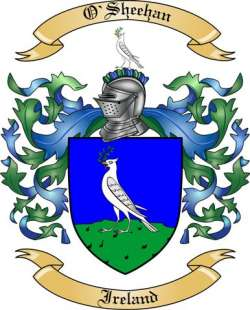 O'sheehan Family Crest from Ireland by The Tree Maker.