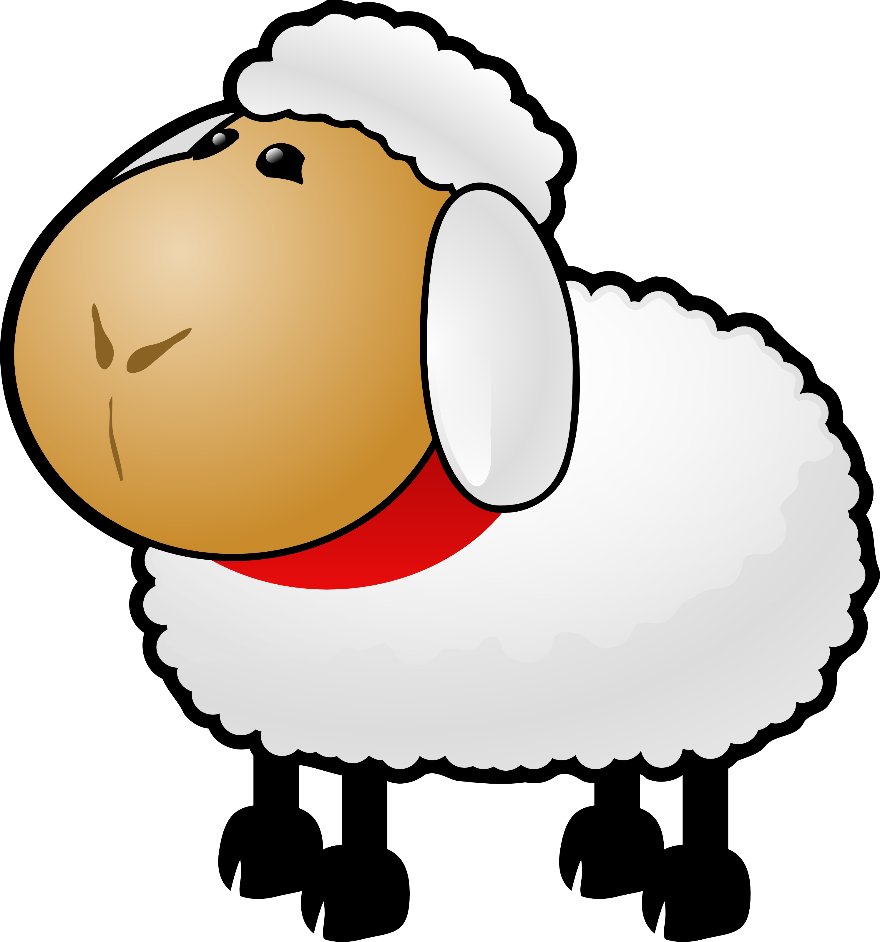 Cute animal clipart sheep.