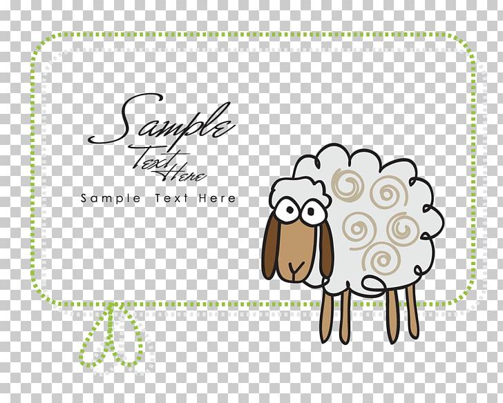 Sheep Drawing, Lamb border, sheep PNG clipart.