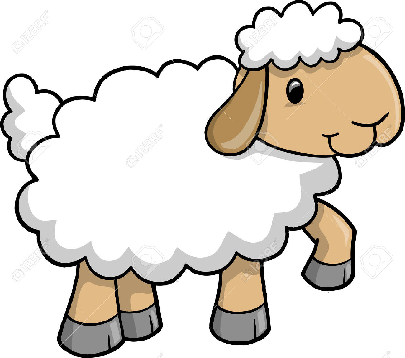 Lambs Clipart.
