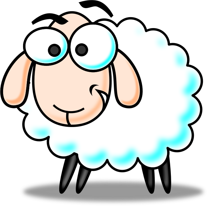 Download Sheep Clip Art ~ Free Clipart of Cute Sheep: Fluffy.