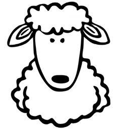 Blck face sheep head clipart.