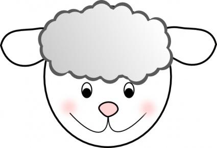 Lamb Face Clip Art.