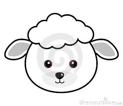 Sheep Face Clipart.