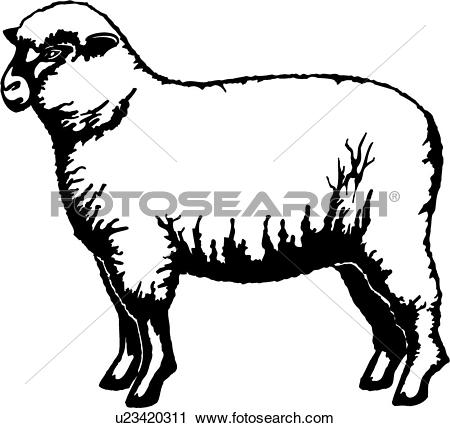 Sheep Farm Clipart