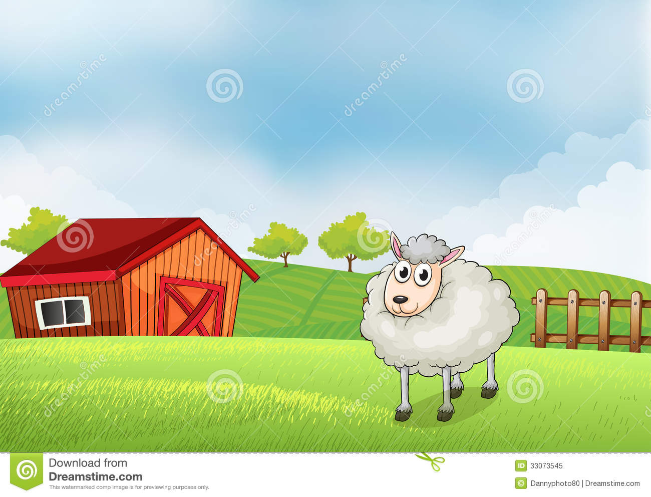 Farm Sheep Clipart.