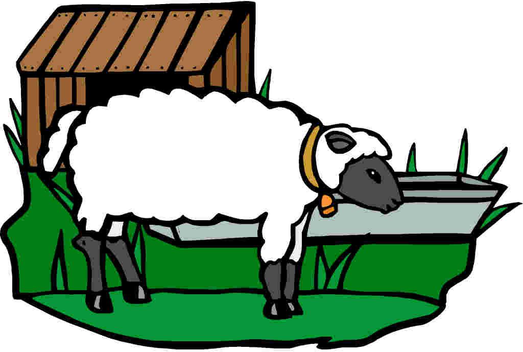 Sheep farm clipart.