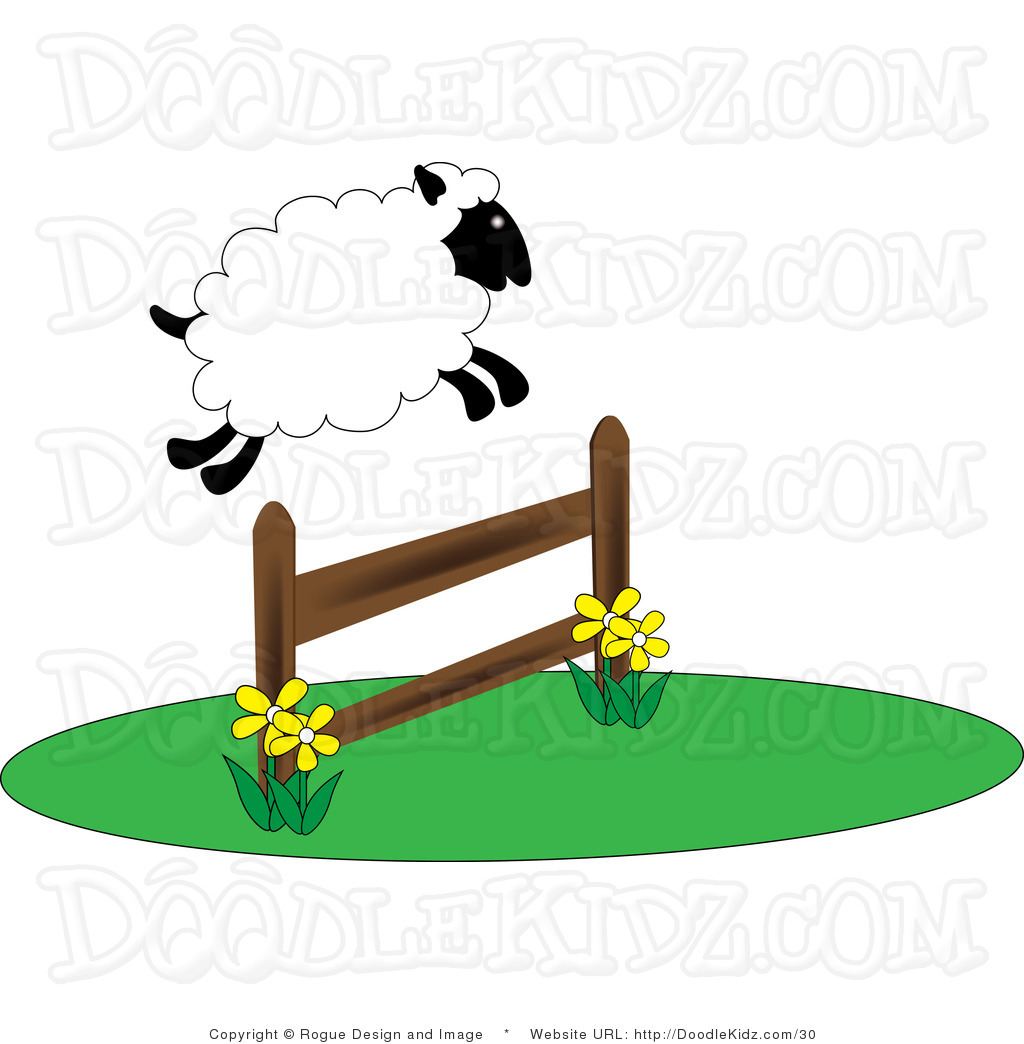 Clipart Of A Sheep In A Fence.