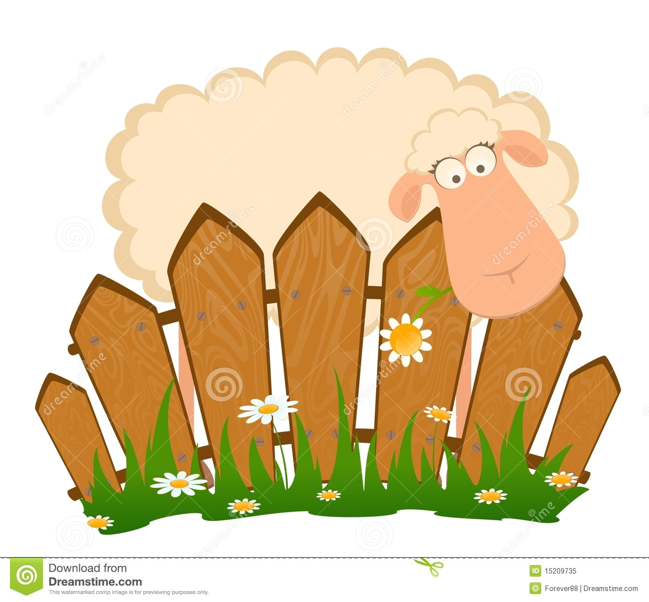 Sheep and gate clipart.