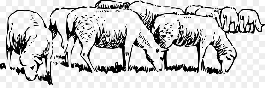 Sheep Herd Clipart.
