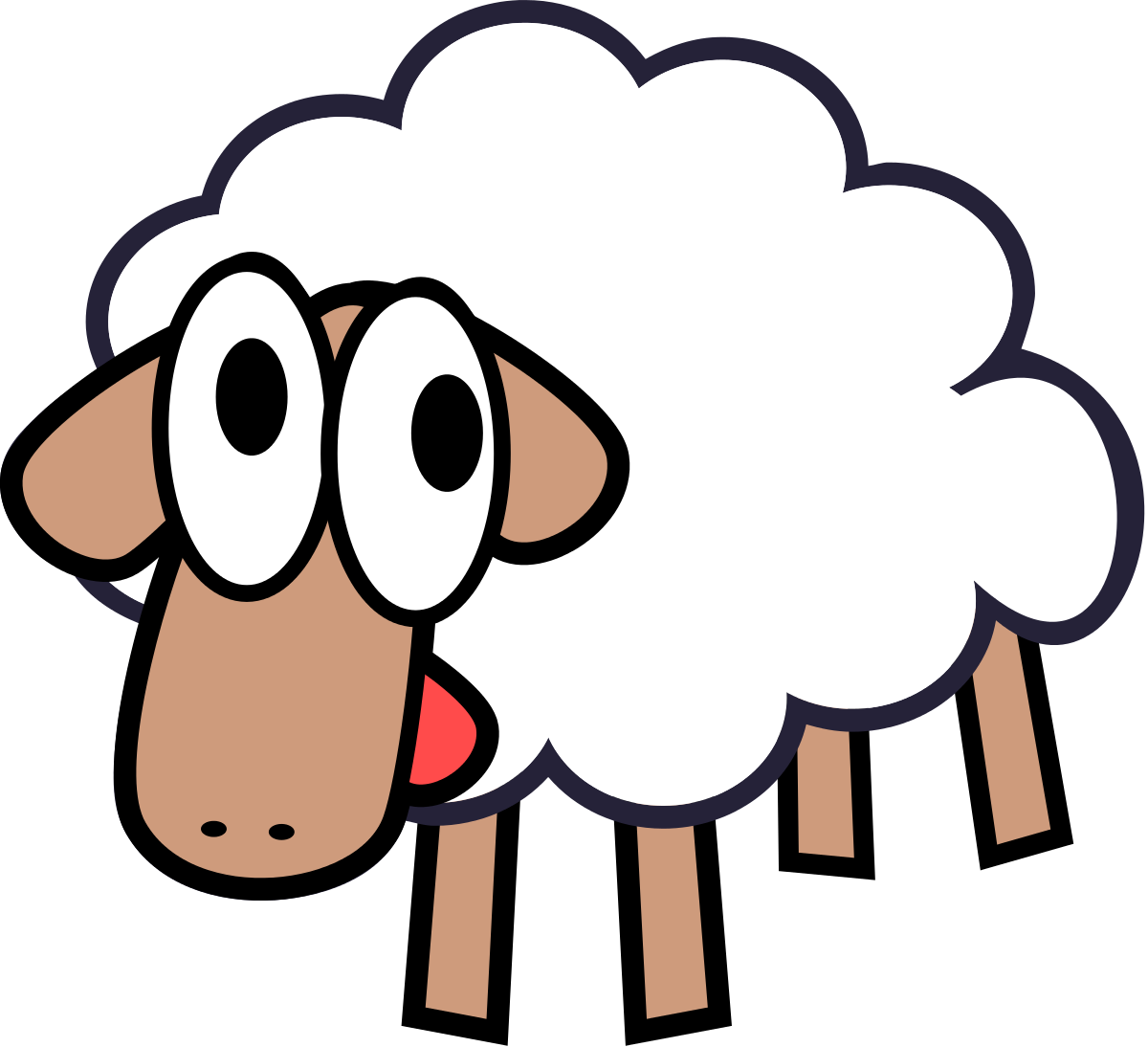 Lamb outline sheep clip art free clipart images image.