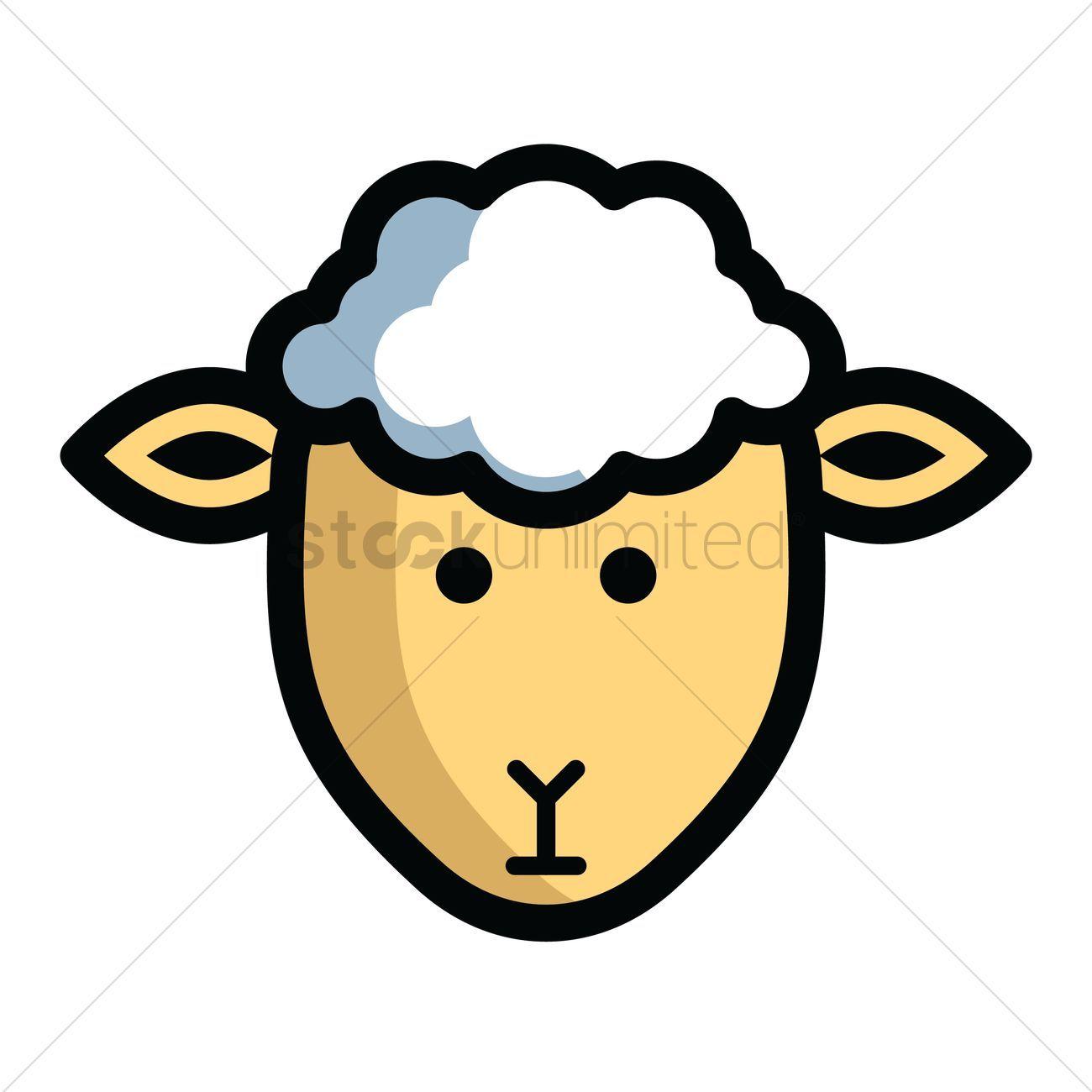 sheep head clipart #5