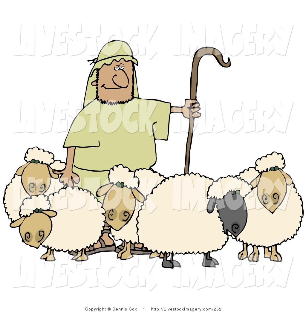 Sheep herder clipart.