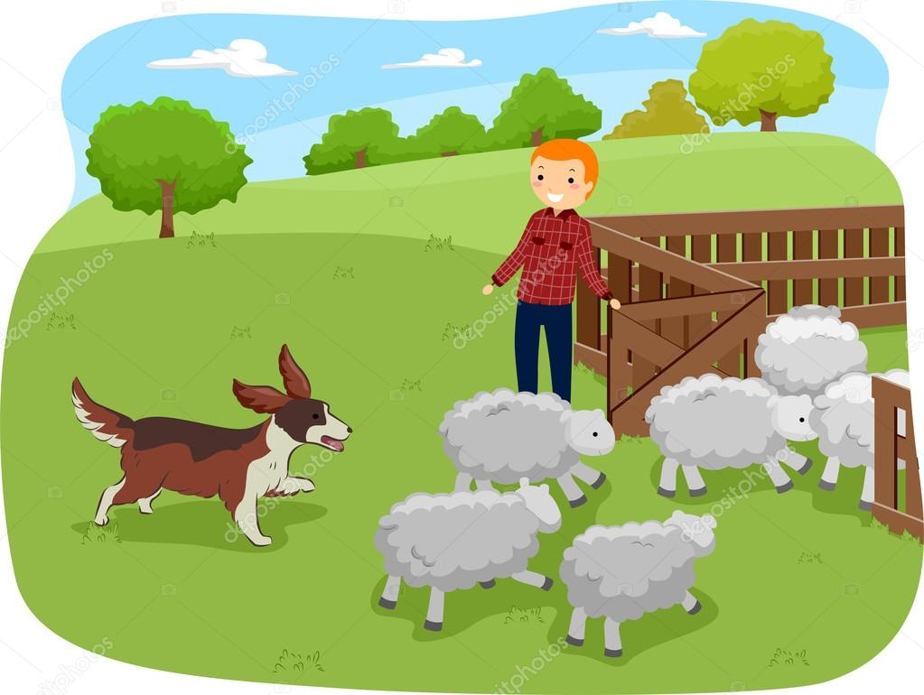 Showing post & media for Dog herding sheep cartoon.