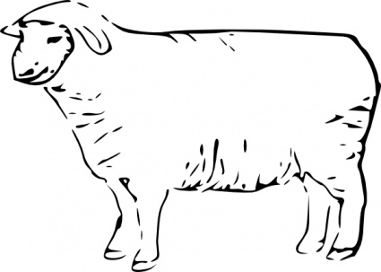 Related Keywords & Suggestions for One Sheep Clip Art.
