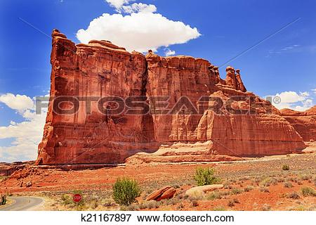Picture of Tower of Babel Rock Formation Canyon Arches National.