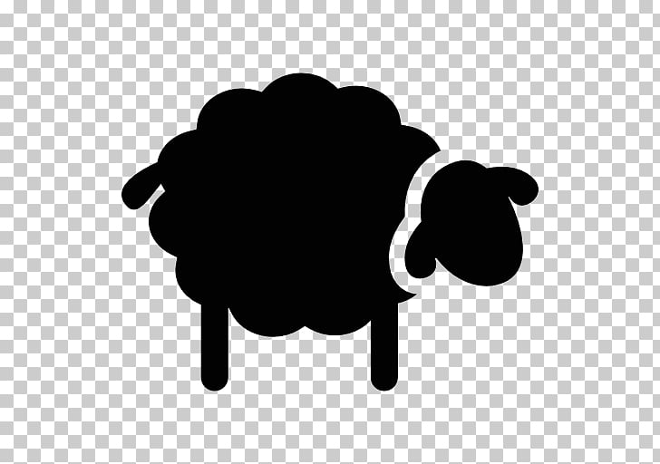 Dorset Horn Silhouette Black sheep, Silhouette PNG clipart.