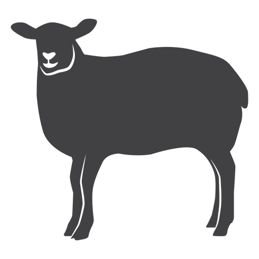 Sheep wool lamb hoof silhouette.