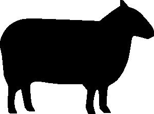 Sheep Silhouette clip art.