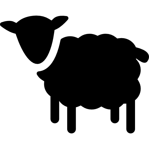Sheep silhouette Icons.