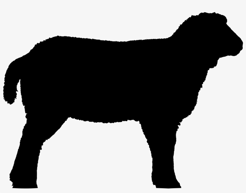 Detailed Sheep Silhouette.