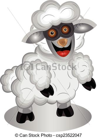 Clipart Vector of Sheep.