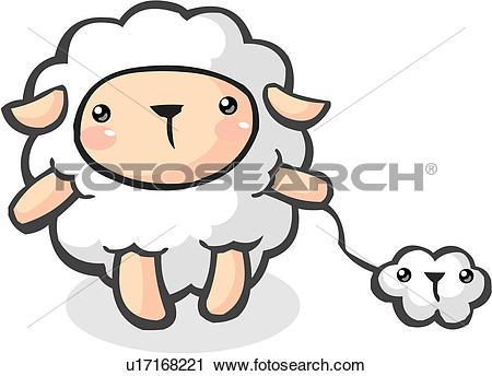 Clipart of animal, lamb, farm animal, livestock, wool, vertebrate.