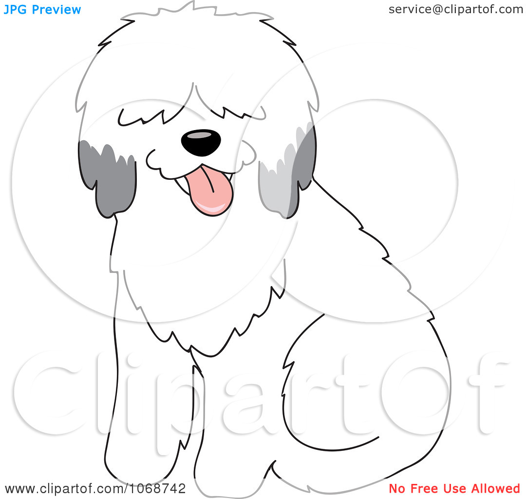 Clipart Sheepdog Sitting.
