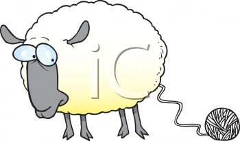 Sheep wool clipart.