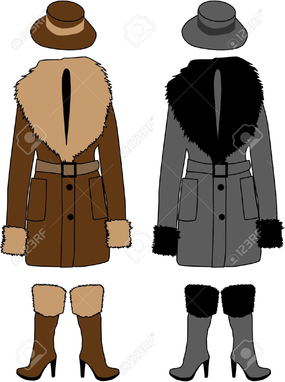 Sheepskin Coat Royalty Free Cliparts, Vectors, And Stock.