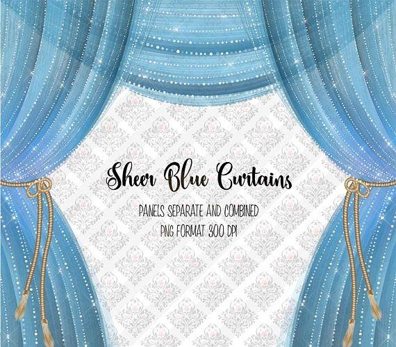 Sheer Blue Curtains Clipart, diamond curtains, diamond.