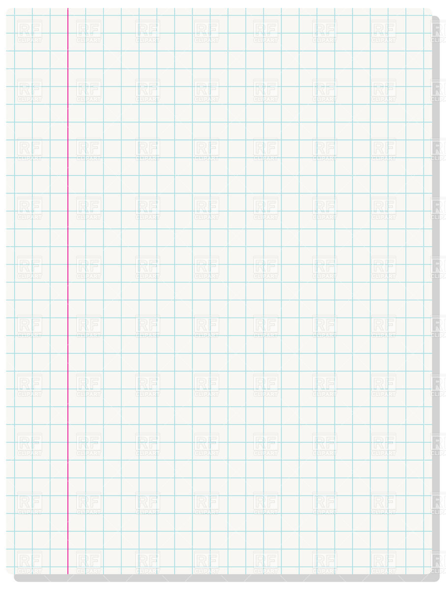 Blank exercise book paper sheet Vector Image #33615.
