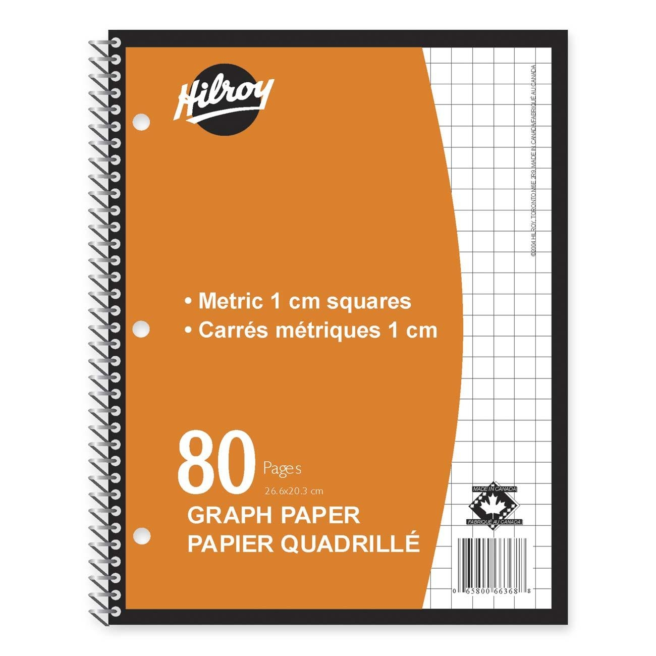 Hilroy Metric Graph Paper Coil Notebook.