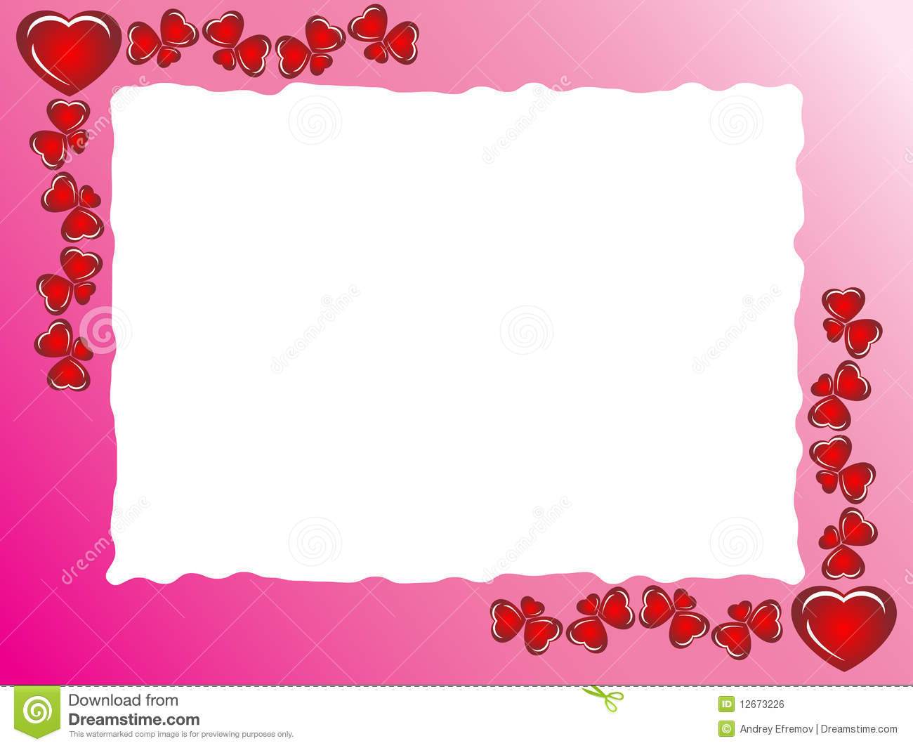 Framework From Hearts With Sheet From A Notebook Royalty Free.