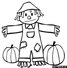 Free black and white fall clip art.