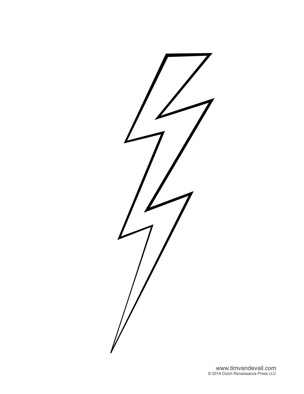 Lightning bolt clipart free.
