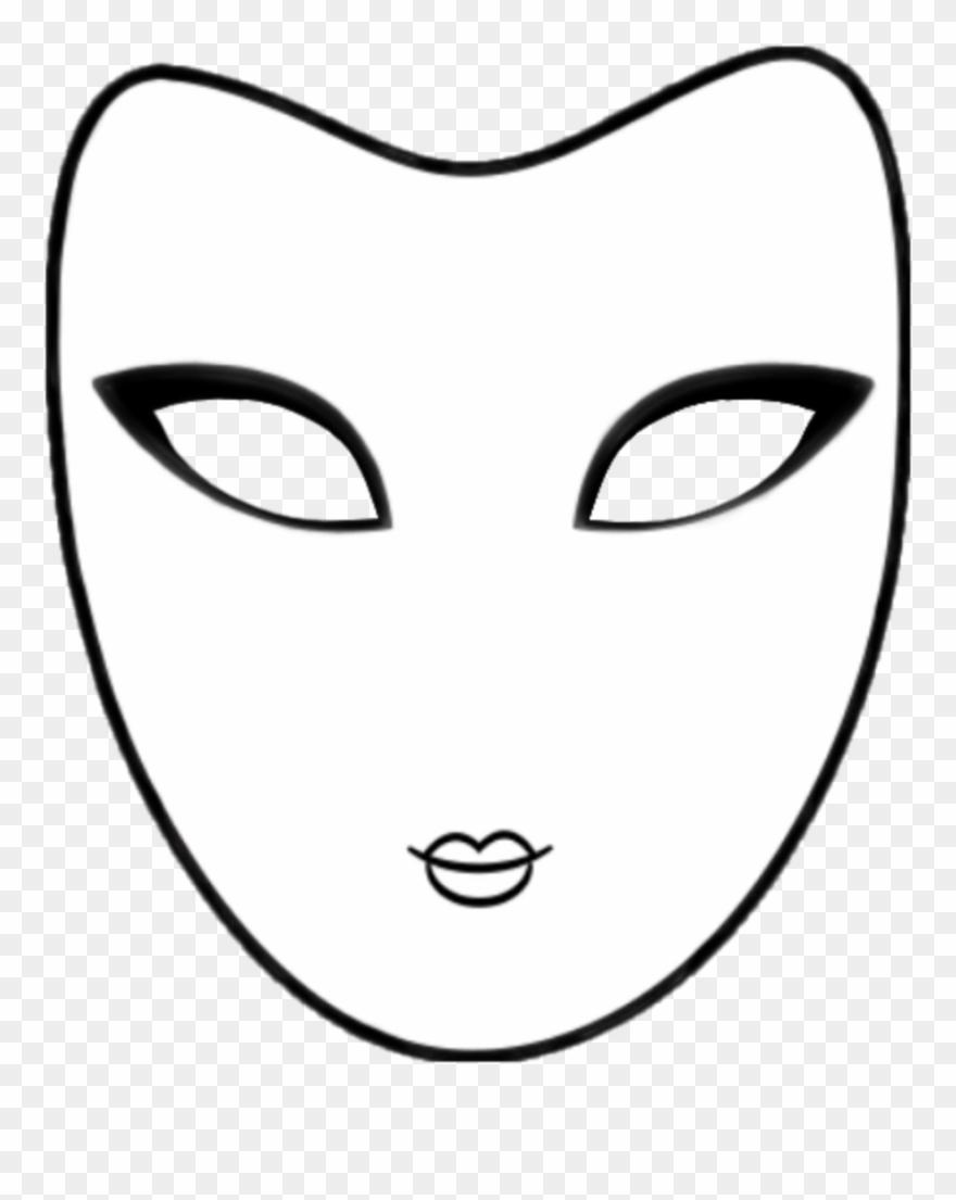 Mask Whiteandblack Outline Colorsheet Carnival.