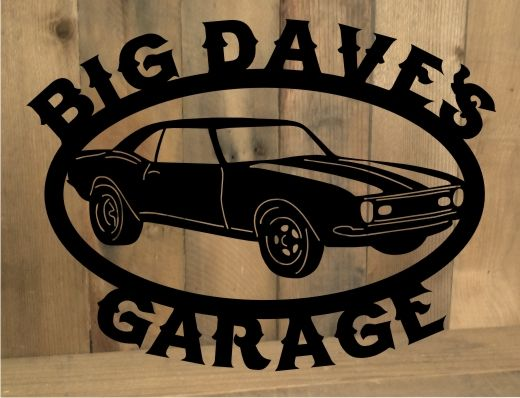 Metal cut out Classic Car sign from MetalDesignWorx.com. Can be.