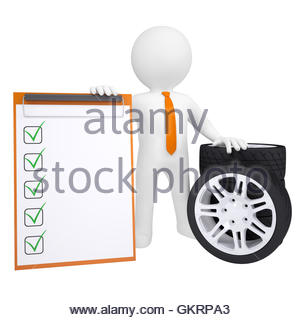 Automobile car tire tyre with sheet metal screw puncture causing a.