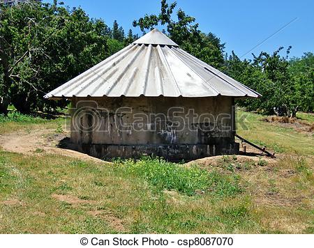 Stock Photography of Round hut.