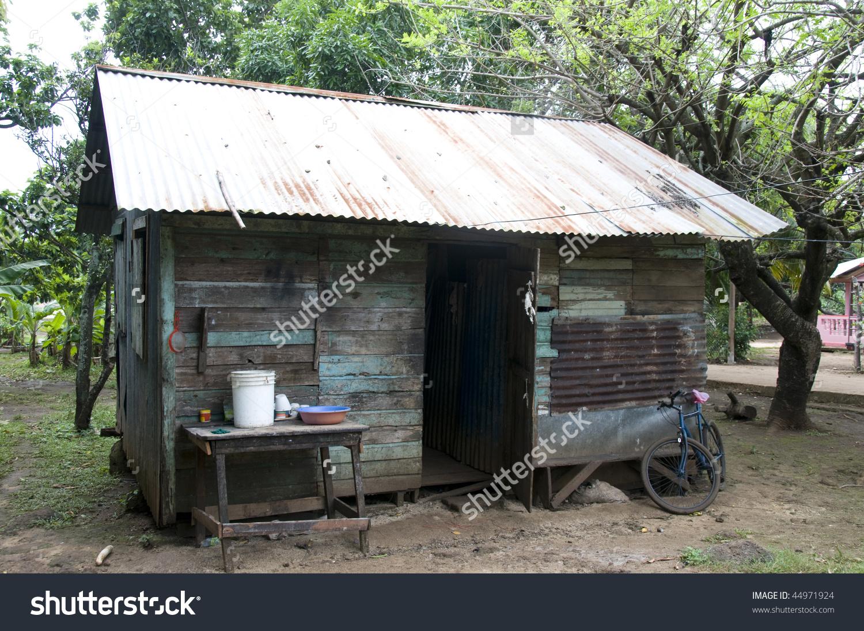 Zinc Sheet Metal Wood Native House Stock Photo 44971924.